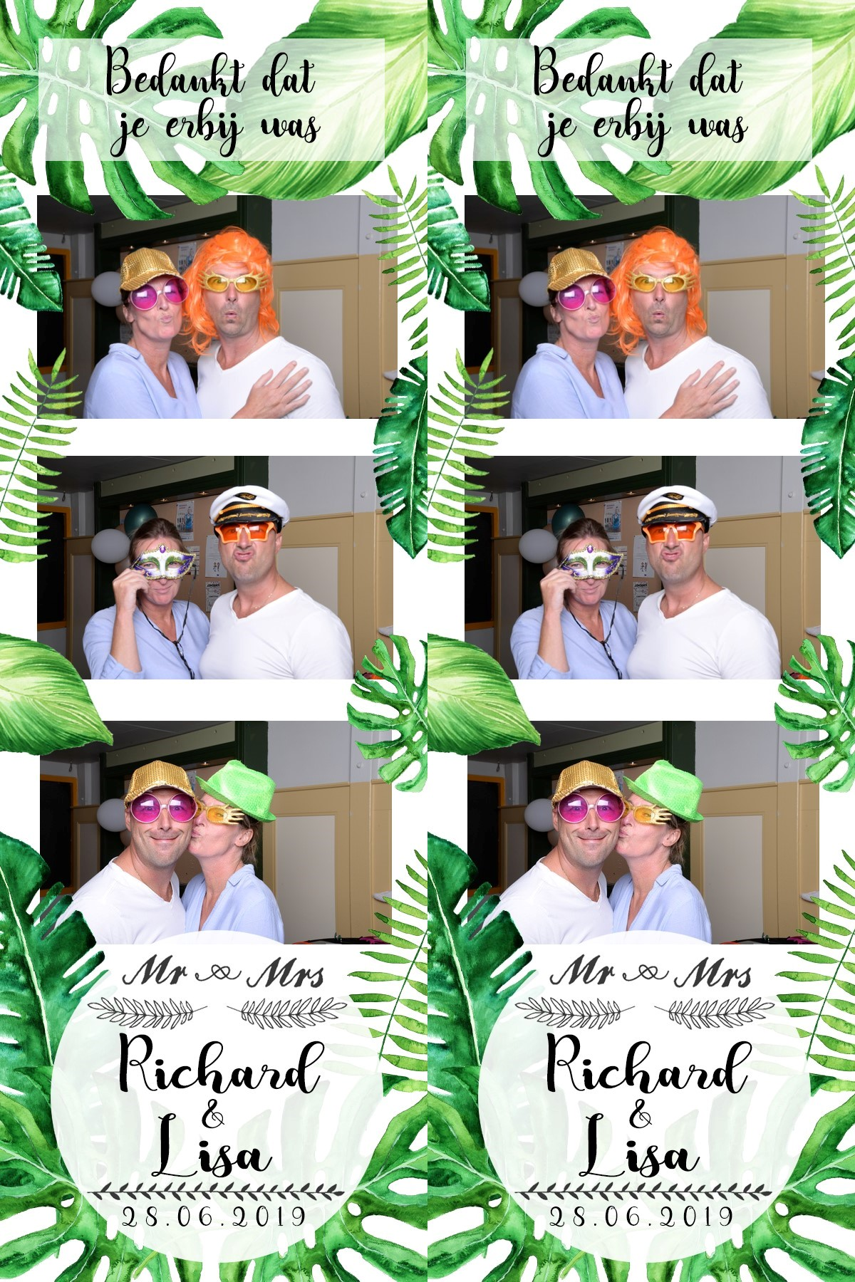 Photostrip Bruiloft