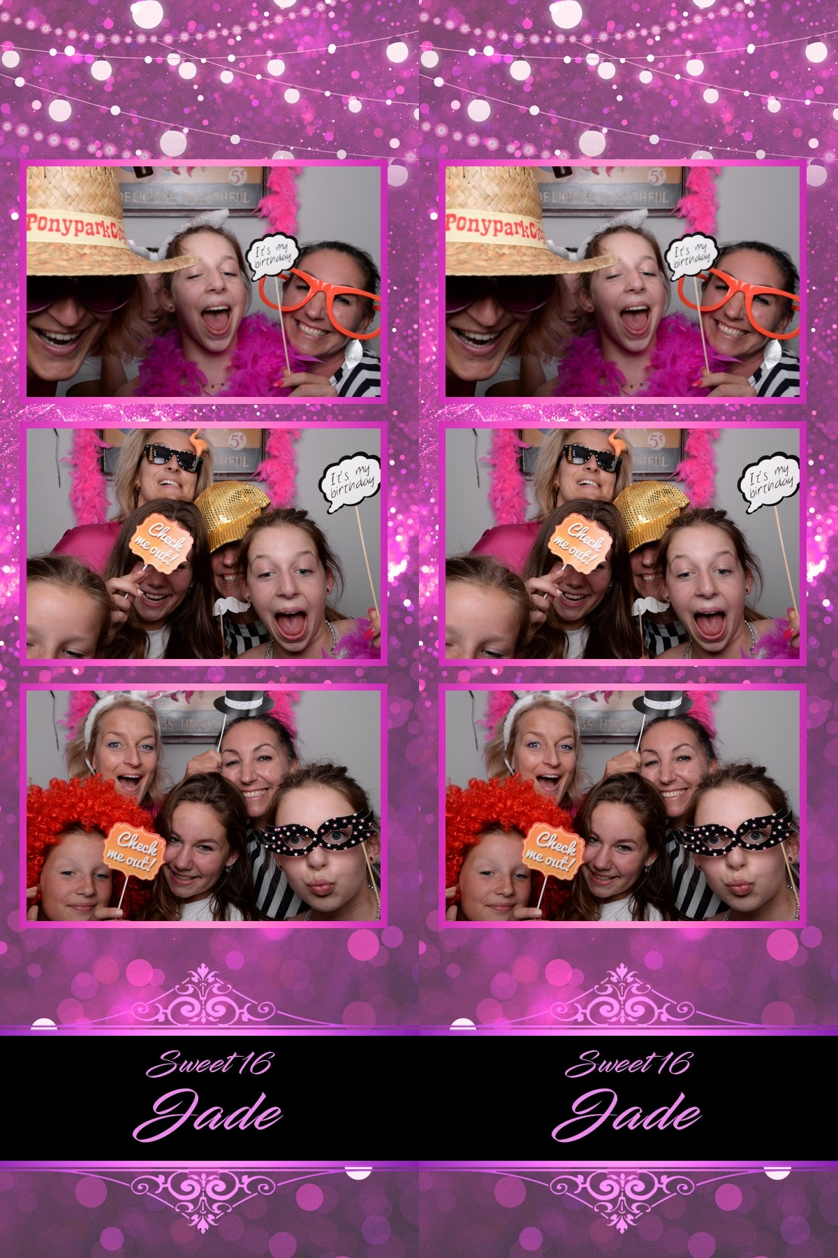Sweet 16 photostrip